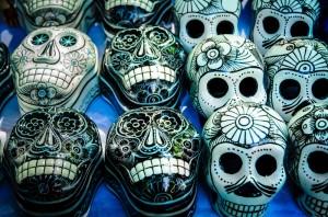 Dia de los Muertos Masks at market