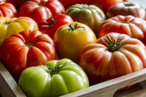 Juicy, locally grown Heirloom Tomatoes